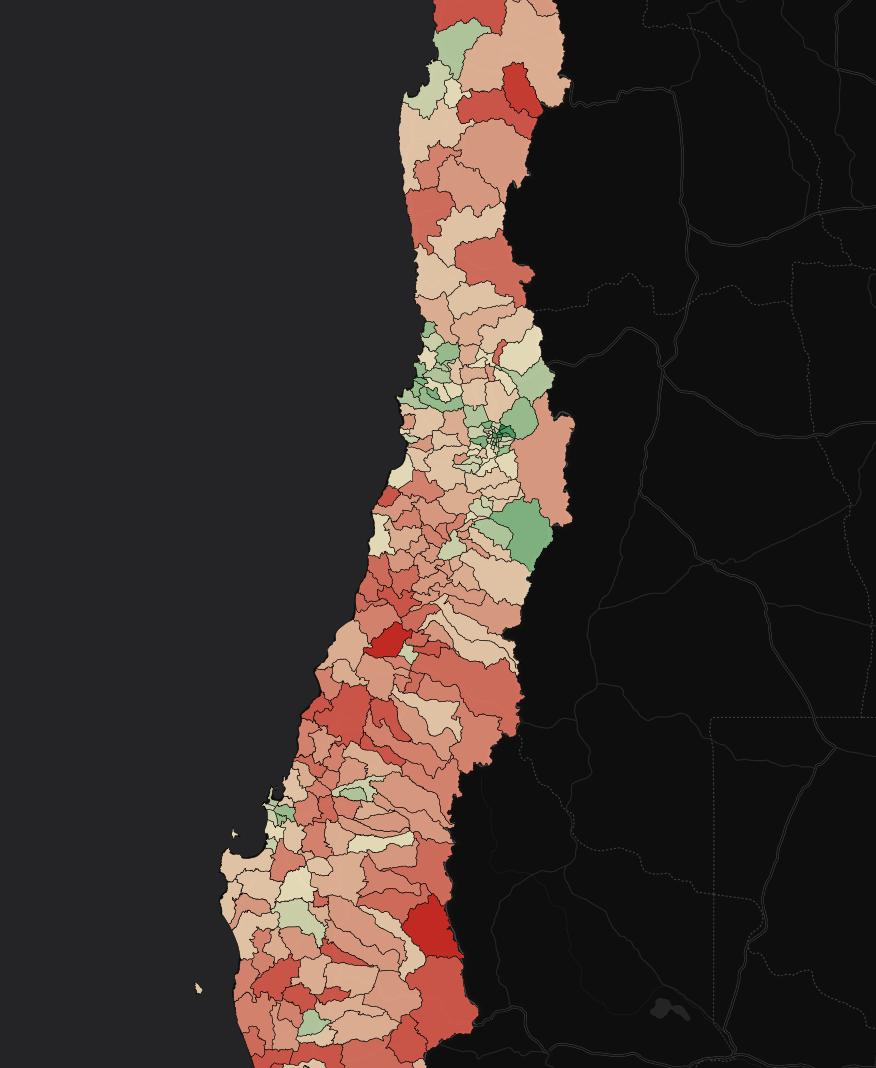 Mapa de Usuarios en Chile
