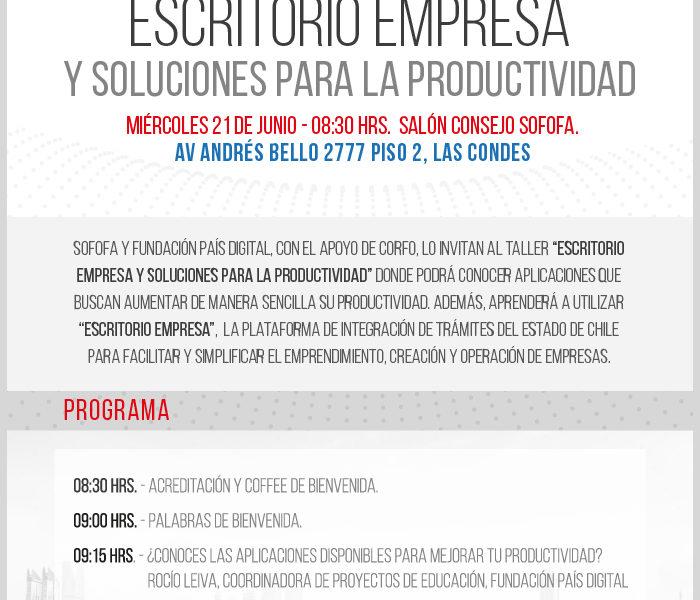 País Digital invita a talleres gratuitos «Escritorio Empresa y Soluciones para la Productividad»