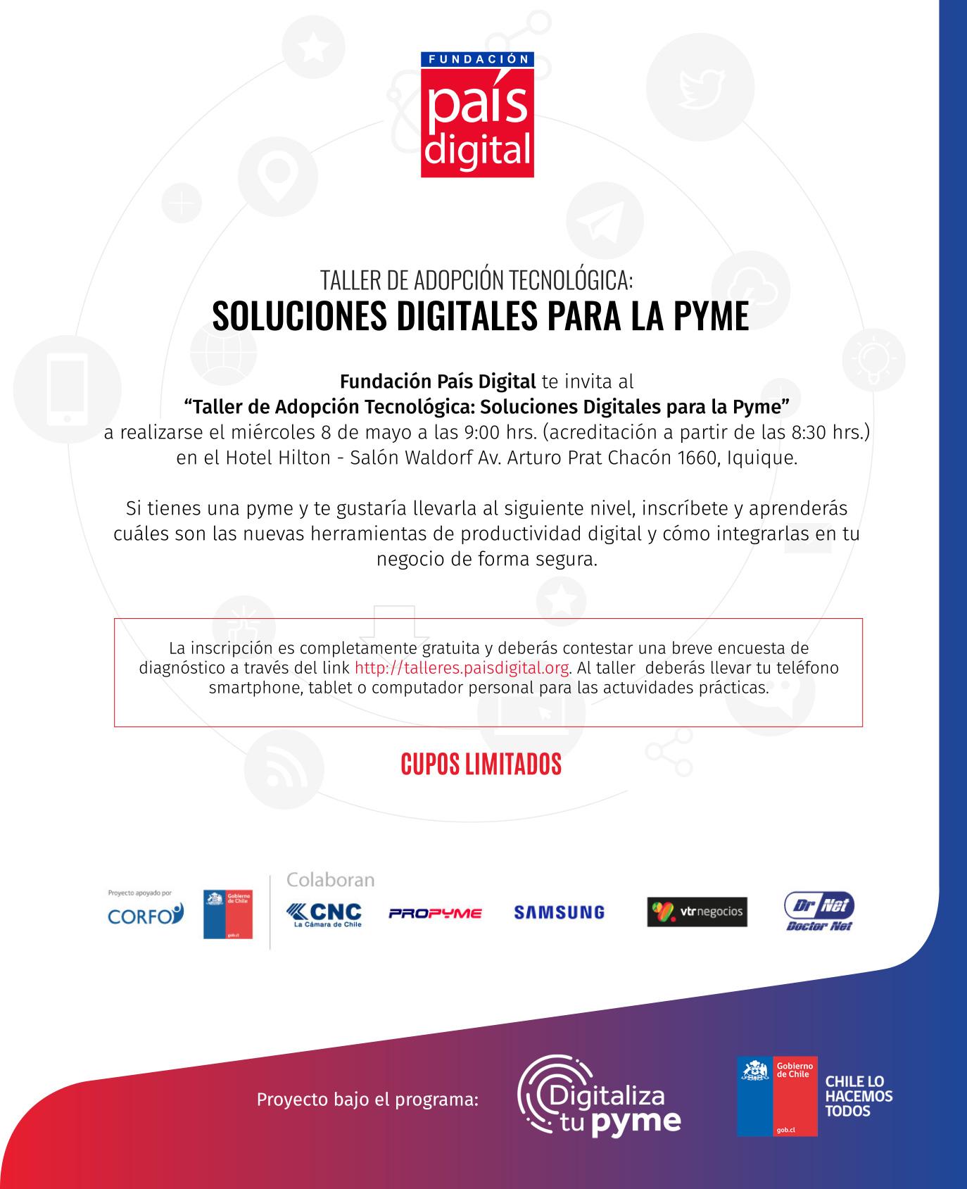 Taller de adopción tecnológica: Soluciones digitales para pymes – Iquique