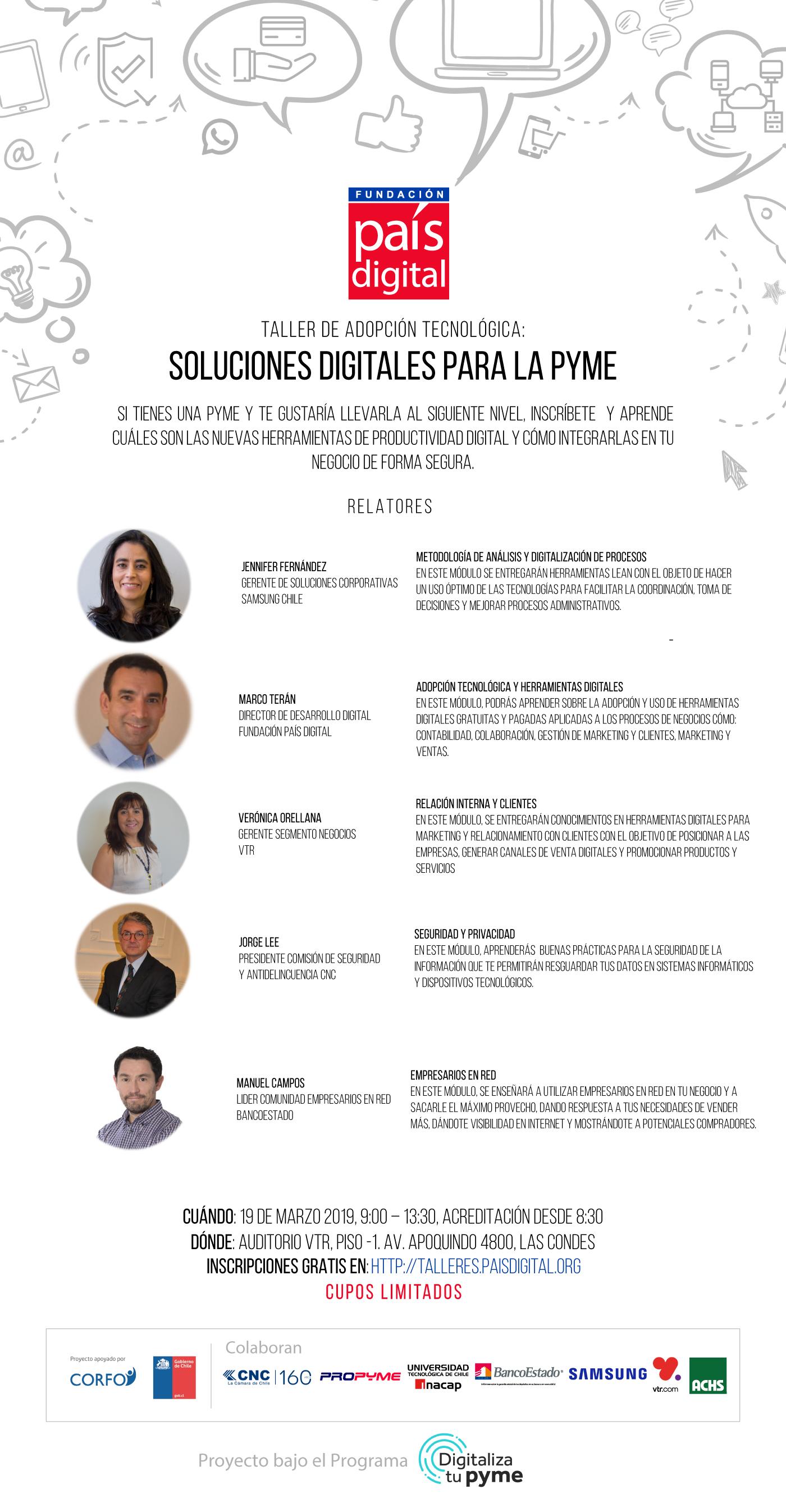 Taller de adopción tecnológica: Soluciones digitales para pymes – Antofagasta